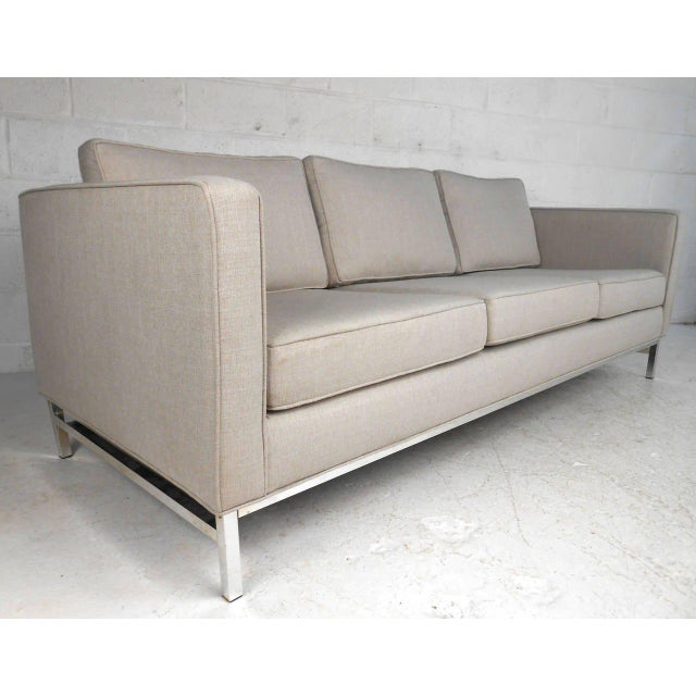 mid century modern florence knoll style sofa chairish. Black Bedroom Furniture Sets. Home Design Ideas