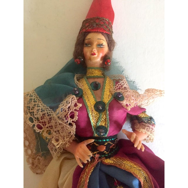 1950's Vintage Handcrafted Spanish Gypsy Souvenir Dolls- Set of 3 - Image 7 of 11