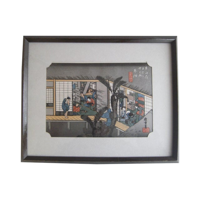 Japanese Wood Block Print by Hiroshige Ando - Image 1 of 11