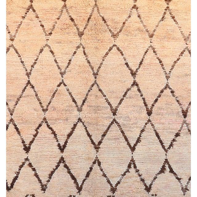 "Vintage Azilal Moroccan Berber Rug - 7'4"" x 11'10"" - Image 2 of 3"