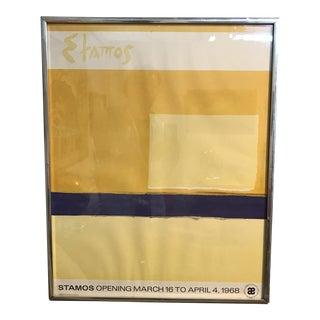 1968 Stamos Exhibition Poster
