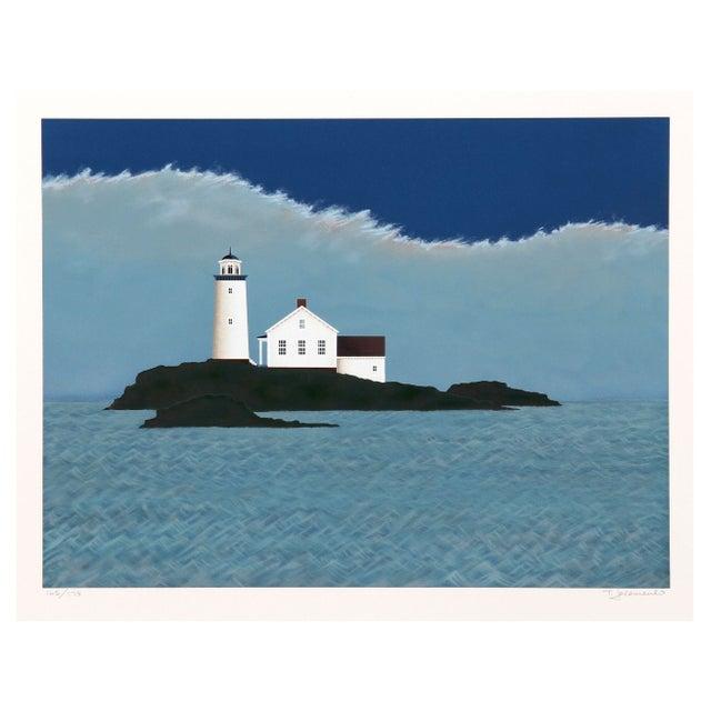 Image of Theodore Jeremenko Island Lighthouse Silkscreen