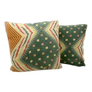 Kantha Blanket Pillows - A Pair