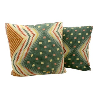 Kantha Blanket Pillows - A Pair