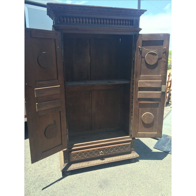 Late 1800s French Brittany Style Cabinet - Image 5 of 7