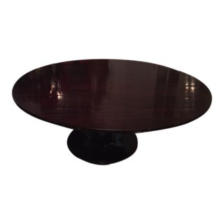 Baker Furniture Co. Round Fluted Mahogany Dining Table