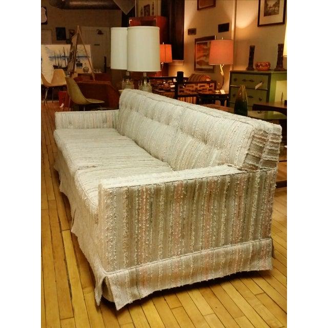 Mid-Century Pastel Stripes Tufted Sofa - Image 8 of 8