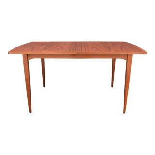 Vintage Drexel Mid Century Modern Walnut Dining Table