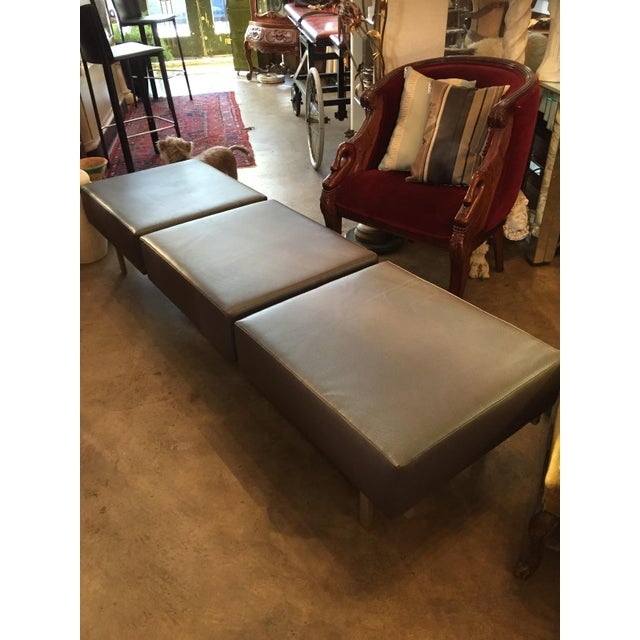 80s Keilhauer 3 Seat Indsutrial Modern Grey Bench - Image 2 of 10