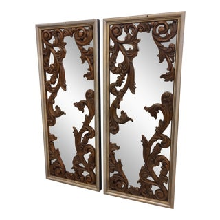 Italian Carved Wall Mirrors - A Pair