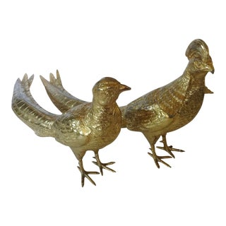 Gold Pheasants Figurines
