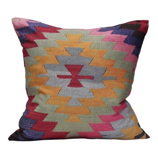 Pink Diamond Kilim Print Pillow