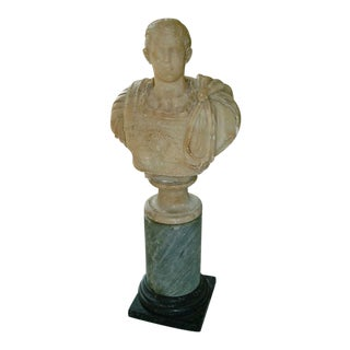 Roman Grand Tour Alabaster Bust of a Caesar