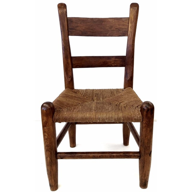 Antique French Farm Child's Chair - Image 1 of 10