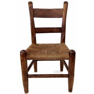Antique French Farm Child's Chair