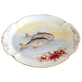 Antique French Limoges Sea Life Fish Serving Platter