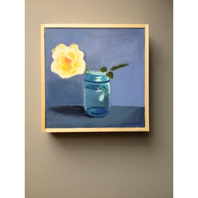 "Original Painting ""Yellow Rose"" - Image 3 of 7"