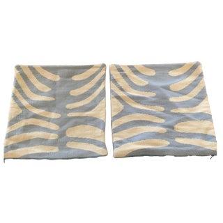 Jonathan Adler Blue Zebra Pillow Covers - A Pair