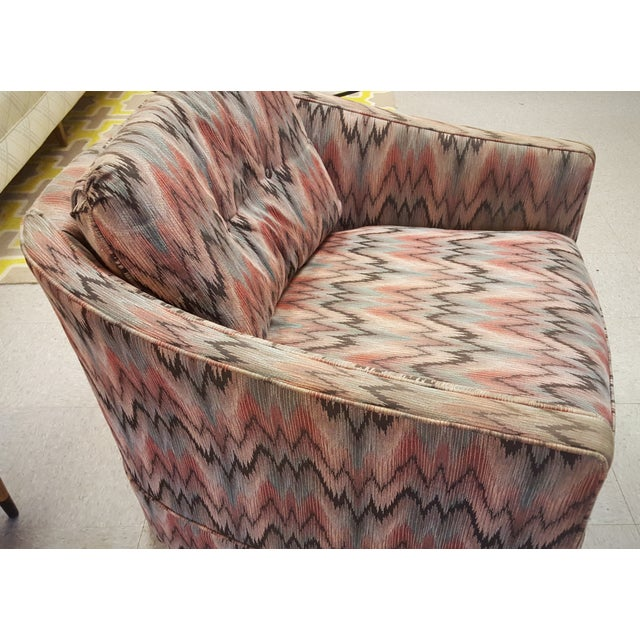Vintage Post Modern Swivel Club Chair - Image 4 of 8
