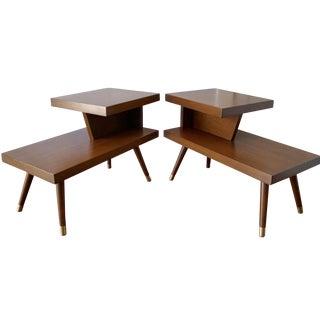 California Modern Side Tables - A Pair