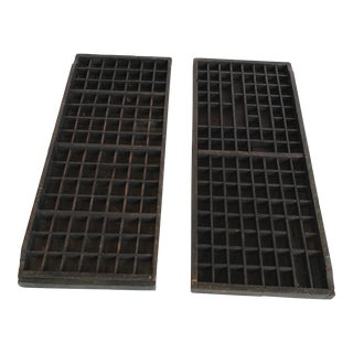 Vintage Typesetter Trays - A Pair