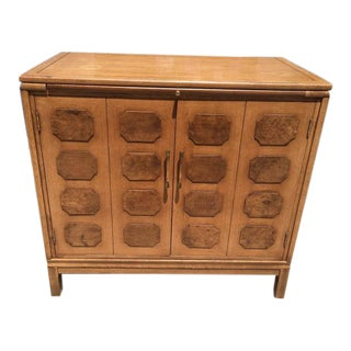 Paneled Mid-Century Bar Cabinet