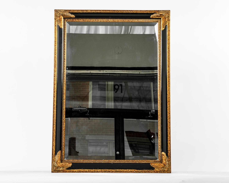 Vintage Wood Frame Hanging Wall Mirror : Chairish