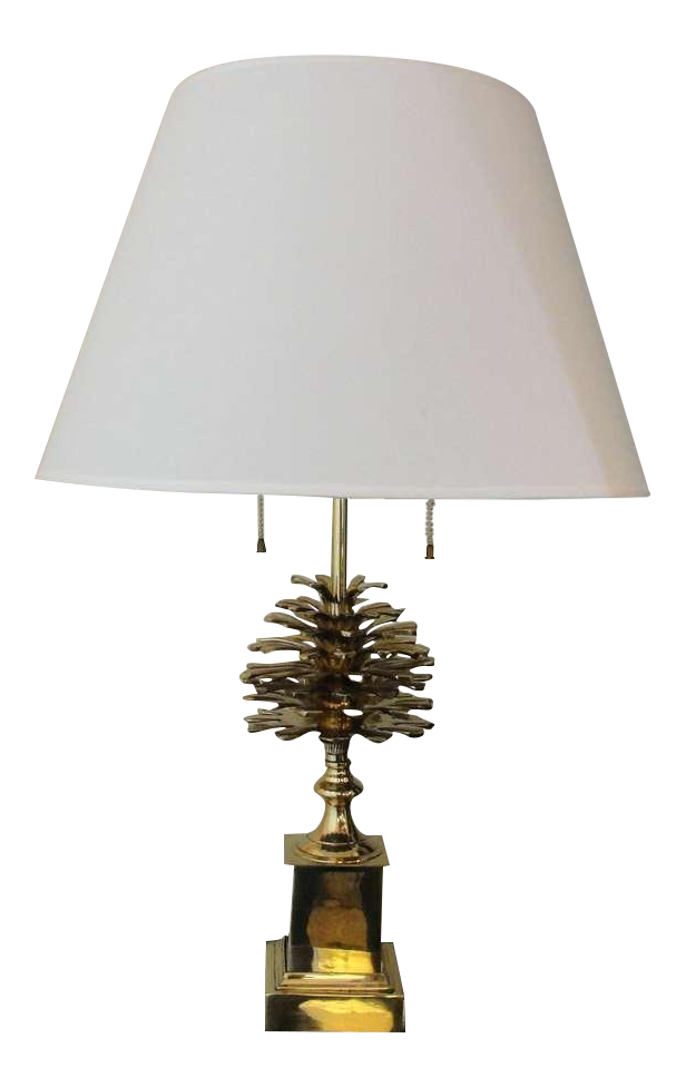 A Brass Pine Cone Table Lamp   Image 1 Of 4