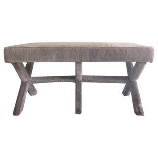 Custom Velvet Upholstered Bench