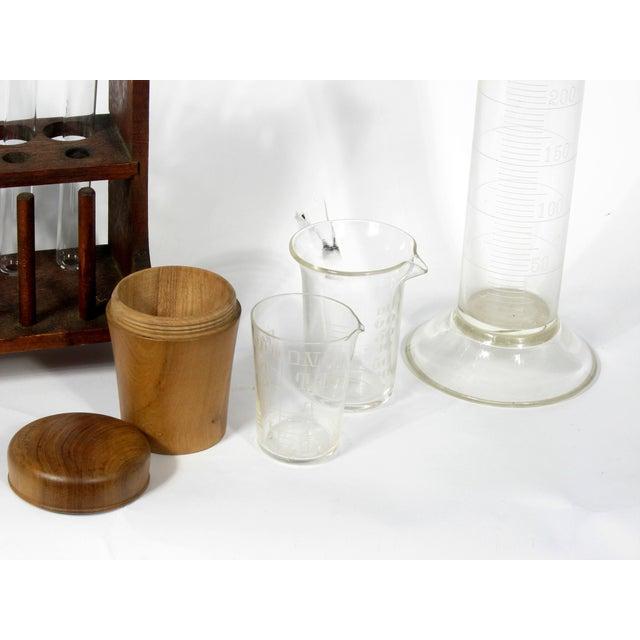 Vintage Scientific Test Tubes & Holder - Image 4 of 5