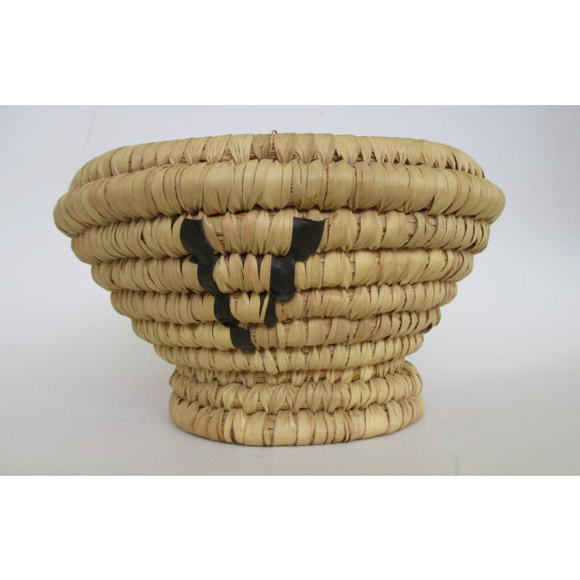 Moroccan Hand Woven Bread Basket Bowl - Image 6 of 9