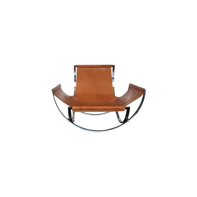 Charles Stendig Leather Lounge Chairs - A Pair - Image 2 of 8