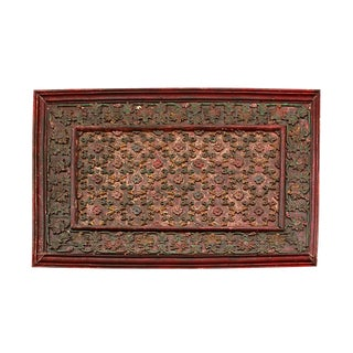 Antique Carved Wood Ceiling Panel