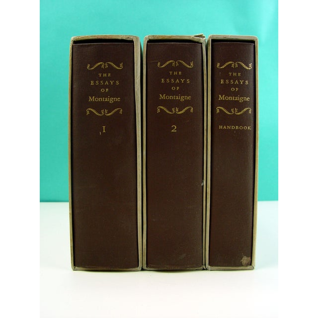 Vintage 'The Essays of Montaigne' Books - Set of 3 - Image 3 of 4
