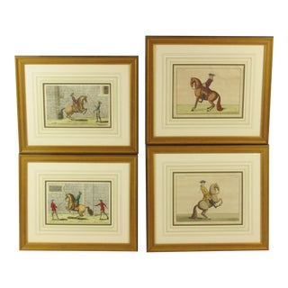 19th C. French Equestrian Engravings - Set of 4