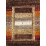 "Image of Tribal Hand-Knotted Shiraz Wool Rug - 5'7"" x 7'8"""