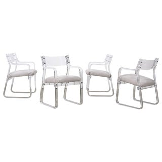 1970's Lucite Armchairs - Set of 4