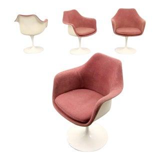 Eero Saarinen for Knoll Inc Tulip Arm Chairs, Set of 4