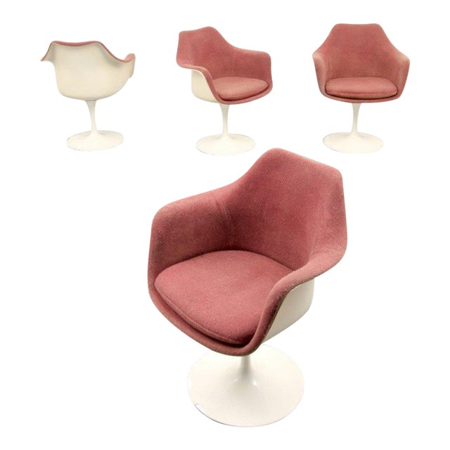 Eero Saarinen for Knoll Inc Tulip Arm Chairs, Set of 4 - Image 1 of 9