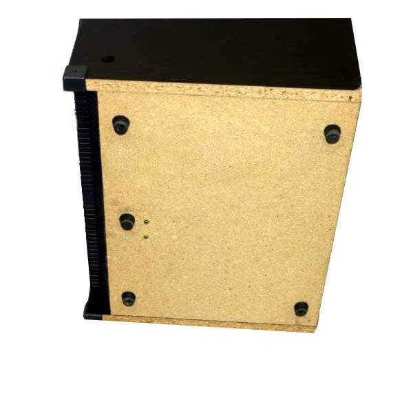 Image of Industrial Black Wooden Record Case