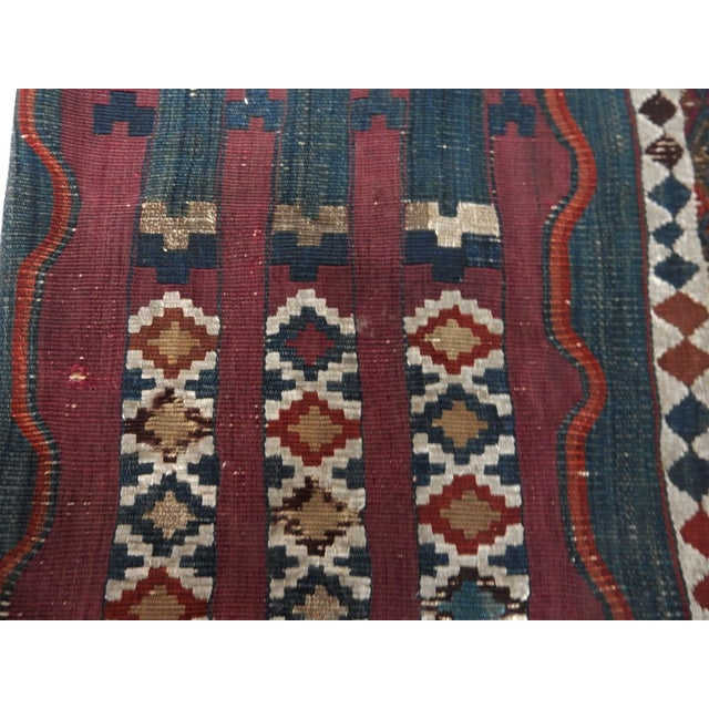 Antique Tribal Kilim Pillow Cover - Image 4 of 6