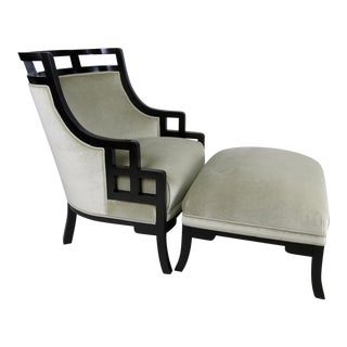 """Wallis Simpson"" Lounge Chair and Ottoman by Jay Spectre"