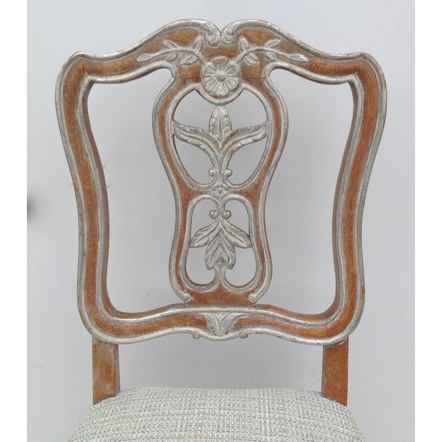 Antique French Parcel Gilt Accent Chair - Image 8 of 11