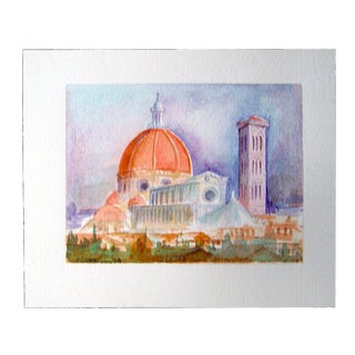 Duomo Cathedral Florence Italy Mini Watercolor