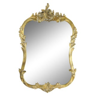 French Rococo-Style Gilded Mirror