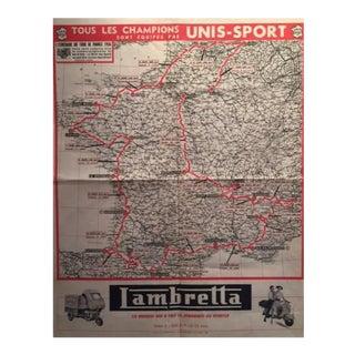 1956 Tour De France Map