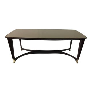 Paolo Buffa Reverse Painted Top and Walnut Italian Dining Table