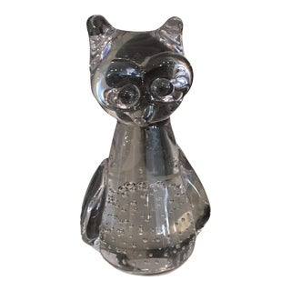 Cute Glass Owl Figure