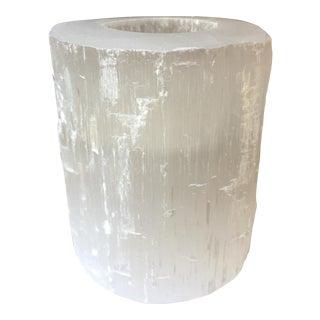 Selenite Stone Candle Holder