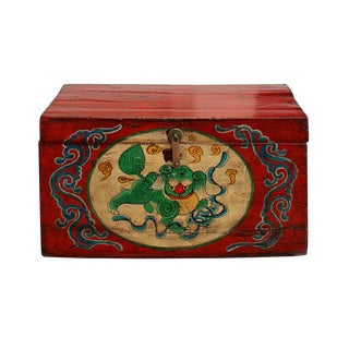Chinese Red Foo Dog Box